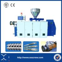 China PLC Controlled SJSZ Series PVC Conical Twin Screw Extruder on sale