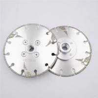 Quality 125mm Electroplated Reinforced Diamond Cutting Blade M14 Thread 5 Inch With Protection wholesale