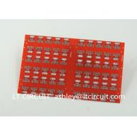 Quality Red LPI Solder Mask Double Sided PCB 0.8mm Lead Free HASL White Silkscreen wholesale