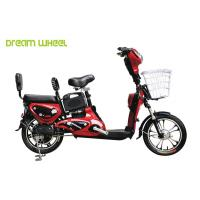 China Red Lady & Child Power Assisted Bicycle 16 Inch Wheel Pedal Electric Bike on sale