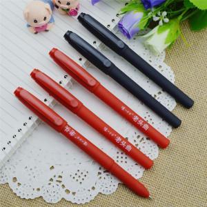 Gel pen,Promotional gel-ink pen with cap,black rubber gel-ink pen,