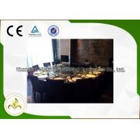 Quality Eight Seat Japanese Restaurant Grill Table , Teppanyaki Table Grill With Ventilation System wholesale