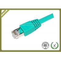 China 4 Pair STP Cat6 Shielded Cable Green Color 550 Mhz Cat6 Patch Leads on sale