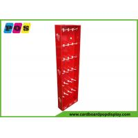Buy cheap Retail Stores Sidecap Corrugated Display Shipper With 24 Pieces Pegs For Keychains from wholesalers