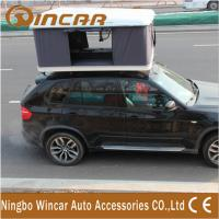 Quality Hard Shell Fibreglass white box Car Roof Top Tent Manual by Handle Cranks wholesale