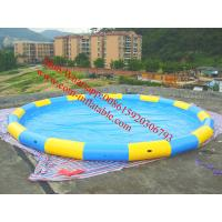China large inflatable water slide pool best selling inflatable adult swimming pool on sale