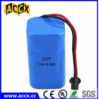 Quality rechargeable 7.4v 4400mah lithium ion battery pack for power bank/helmet lamp wholesale
