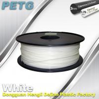 Quality Temperature Resistance PETG Filament 1.75 / 3.0mm white Filament wholesale