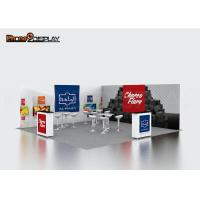 Quality Quick Pop Up Exhibit Booth Custom Color For Advertising Picture Fabric Display wholesale