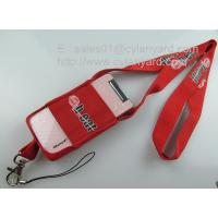 China Functional stretchable mobile phone pouch lanyards, spandex mobile phone holder lanyards, on sale