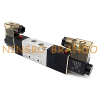 China 4V330C-08 1/4'' Double Solenoid 5/3 Way Pneumatic Air Control Valve on sale
