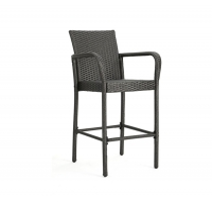 Quality Grey Color Depth 48cm Length 50cm Rattan Garden Chairs For Bar wholesale