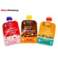 Quality BPA Free Liquid Spout Bag , Custom Print Stand Up Spout Baby Food Pouches wholesale
