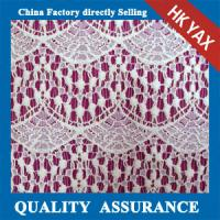 Quality china supplier 2015 Fancy Design White Polyester Guipure for Wedding Embroidery Lace Fabric wholesale