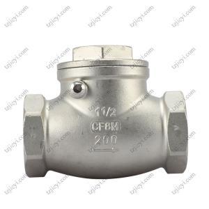 China 304 stainless steel horizontal check valve internal thread check valve DN25 swing check valve on sale