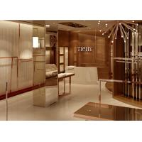 Cheap Lady Apparel Showroom Retail Clothing Fixtures Rose Gold Stainless Steel Material for sale