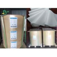 China 30 / 35 / 40gsm MG Kraft White Paper Jumbo Roll 1000 - 1200mm FDA Certified on sale