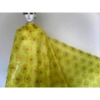 Quality Embroidered Yellow Organza Lace Fabric For Womens Garment wholesale