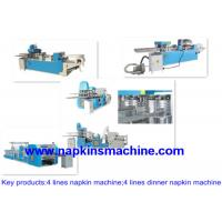 China Embossed Two Line Paper Napkin Machine For Making Napkin Tissue Product on sale