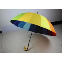 Quality 190T High Density Compact Rainbow Umbrella Water Resistant With Size 21 Inch * 16 K wholesale