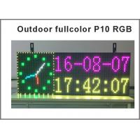 Cheap Full color RGB Programmable Led Signs P10 smd Outdoor led Scrolling Message Display time temperature & date for sale