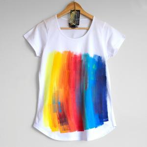 Quality Clothes Teen Women Tshirt Rainbow Women