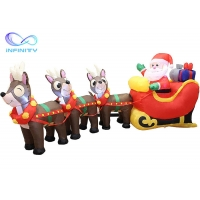 Quality Yard Garden 9.5 Foot Inflatable Santa Claus On Sleigh wholesale