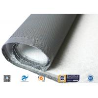 One Side Silicone Coated Glass Cloth , 100g E Glass Silicone Coated Polyester