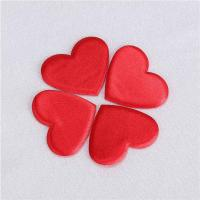 Quality Heart Applique Crafts Flat Padded For Valentines Day Gift Decoration wholesale