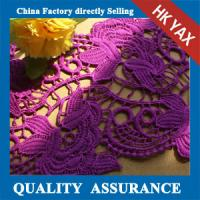 Quality High quality environmental Elegant lace for purple lace fabric,purple embroidery lace fabric,purple lace fabric wholesale