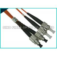 Quality FC - ST Multimode Fibre Optic Patch Leads OM2 Full Metall Body APC Polish wholesale