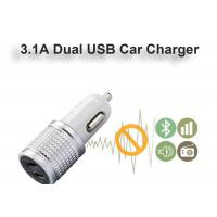 China High Glossy Car Charger Adapter Aluminum Alloy Bottom Cover Led, Indicator Fast Charger 3.1A on sale