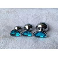 Quality Various Colors Heart Shape Aluminum Alloy Silver Metal Jewelry Expand Anal Plug wholesale