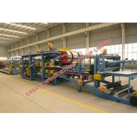 Quality Colored Steel Sheet / EPS Sandwich Panel Production Line With PLC Control wholesale