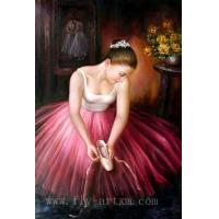China Ballet Girl Oil Painting on sale