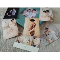 China Classical 8 x 6 Blue Fabric Covered Photo Album Crystal Round Corner on sale
