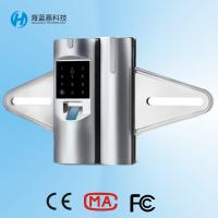 Quality Price best seller zinc alloy silvery biometric glass door lock for office wholesale
