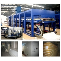 China 38kw Refrigerator PU Polyurethane Sandwich Panel Machine on sale