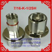 Buy cheap DIN 7/16 female connector clamp type for 1/2superflexible cable all brass factory selling from wholesalers
