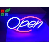 Quality Safety Longevity Colorful Led Neon Open Sign For Indoors And Outdoors , Energy Saving wholesale