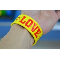 Quality cheap silicone slap bracelet , silicone bracelets wristband price wholesale