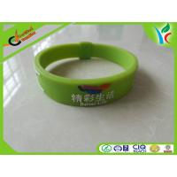 Quality Healthy Green Silicone Balance Bracelet , Light Rubber Energy Wristband wholesale