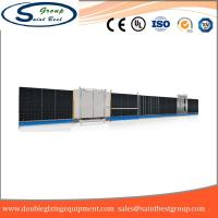 Quality Curtain Wall Double Glazing Equipment , Insulated Glass Machine With Touch Screen Operation wholesale