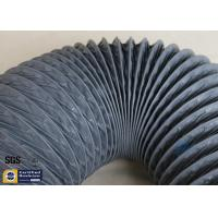 Quality PVC Coated Fiberglass Fabric 150MM HVAC Flexible Air Ducts 10M Grey 260℃ wholesale