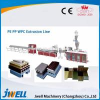 China Jwell hot sale PE & PP wood plastic composite extrusion line on sale