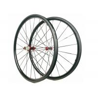 Quality 30MM*25MM Carbon Road Wheels  Dimple Brake Surface 700C Tubuless / Clincher wholesale