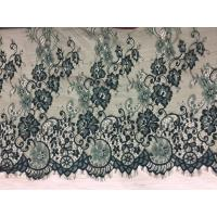 Quality 100% Nylon Eyelash Lace Fabric Hot Selling Ivory green double color wholesale