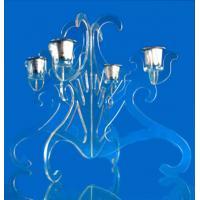 Quality CH (27) Crystal flower candle holder wholesale