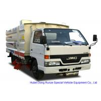 Quality JMC Truck Mounted Road Sweeping Machine With 4 Brushes 5.5 Cbm Trash 1,5 Cbm Water wholesale