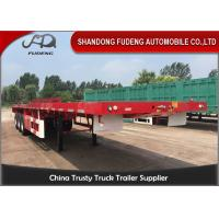 Buy cheap 3 Axles 40 Feet Flatbed Container Trailer With 12 Units THT Lock Selling from wholesalers